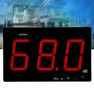 Sw 525a Lcd Display Digital Wall Mounted Sound Level Meter Dc 5v 1a Micro Usb