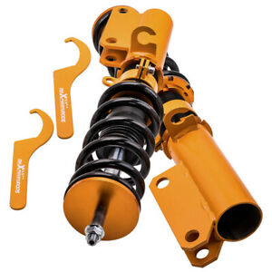 Front Coilovers Shocks Springs For Bmw X5 E53 2000 2006 Adj Height Struts