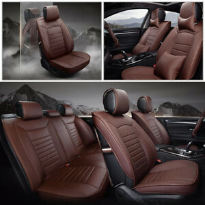 For Toyota Camry 2012 2017 Car Seat Covers Coffee Front Rear Cushions Set Auto
