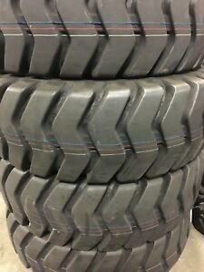 2 Tires 17 5 25 Earthmover Tires L3 e3 20ply 17 5x25 17525