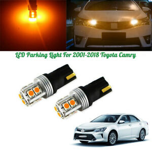 2x Error Free Xenon Amber Parking City Lights Led Bulbs For 2001 18 Toyota Camry