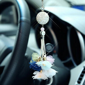 Crystal Ball Car Pendant Car Rearview Mirror Hanging Ornament Car Decoration