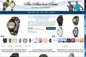 Cccclovely Watch Store Fully Developed Amazon Affiliate Website Free Hosting