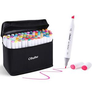 100 Colors Art Markers Set Ohuhu Dual Tips Coloring Marker Pens For Kids