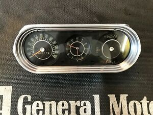 1963 1964 1965 Chevy Ll Nova Ss Dash Cluster Clock Gauges Speedometer