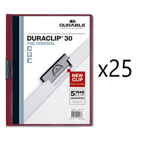 Vinyl Duraclip Report Cover W clip Holds 30 Pages 25 box 25 Boxes