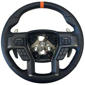 Ford Performance Raptor Steering Wheel For 2015 2018 F 150 W Orange Sight Line