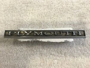1968 Plymouth Valiant Grille Plymouth Emblem