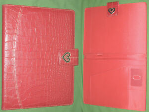 8 5x11 Note Pad Red Reptile Heart S leather Buxton Binder Monarch Franklin Covey