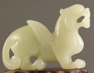 Antique Chinese Hetian Jade Carved Dragon Statue 60 1 G
