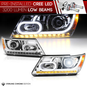 cree Led Low Beam plug play 2009 2018 Dodge Journey Signal Headlight Assembly