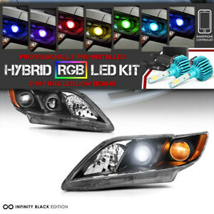 2007 2009 Toyota Camry Trd Style Complete Headlamp Remote Color Led Low Beam