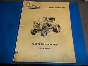 Deutz Allis 1800 Series Tractor Service Repair Manual Eaton 850 Hydo Trans