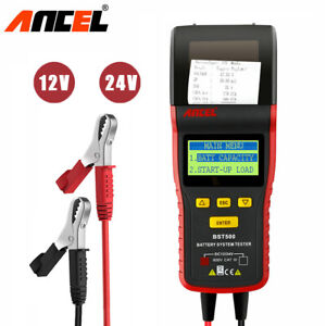 12v 24v Auto Battery Load Tester Universal Digital Analyzer With Printer Bst500