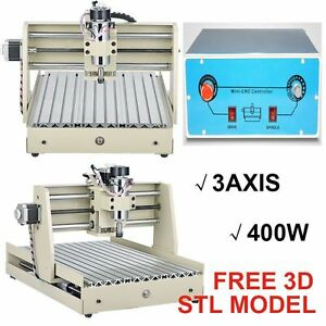 3 Axis 400w 3040 Cnc Router Engraver Machine Drill Wood Artwork Carving Cutter