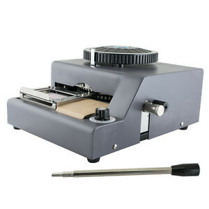 Us 72 character Manual Stamping Machine Pvc id credit Card Embosser Code Printer