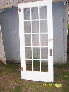 Exterior 15 Pane Glass Door No Hardware Approx 36 X 82 We Ship