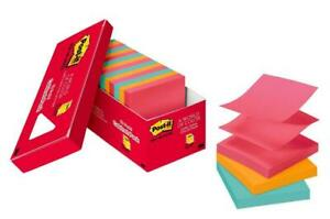 Post it Pop up Notes Pink Green Blue Orange Accordion style Sticky