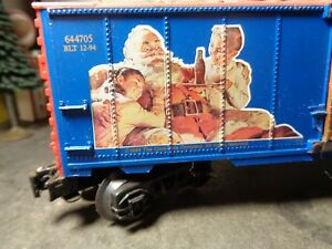 K-LINE 1994  COCA COLA BILLBOARD BOX CAR NO 644705 O GAUGE     5-54-10