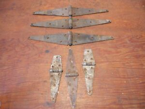 Vintage Barn Door Hinges T Strap Reclaimed Rusty Decor Farm Steampunk Rustic