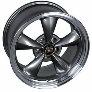 Anthracite 17 Rim W Machined Lip Mustang Bullitt Style Wheel 17x8