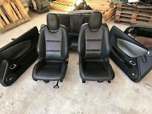 2010 2011 2012 2013 2014 2015 Chevy Camaro Ss Seats Black Leather W Panels