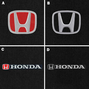 New Red Floor Mats 2001 2020 Honda Civic W Embroidered Logo Set Front Rear