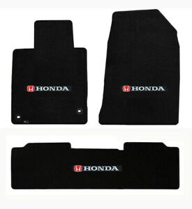 New Red Floor Mats 2001 2020 Honda Civic W Embroidered Logo Front Rear All