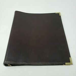Hazel Usa Executive Presentation Faux Leather Metal Corners 1 3 4 3 Ring Binder