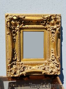 Vintage French Provincial Gold Ornate Rococo Picture Frame 6