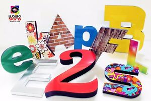 Storefront Custom Foam Sign Letters 18 Inch Acrylic Faces Outdoor Economic