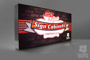 Illuminated Led Signs Storefront Light Boxes Full Color Custom Graphics 48 x24