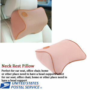Car Seat Chair Head Headrest Neck Rest Pillow Pad Support Memory Foam Cushion