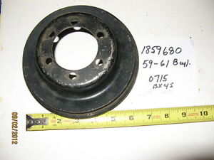 1859680 Mopar Used 1959 61 Dodge Plymouth Lower Engine Pulley W Ps