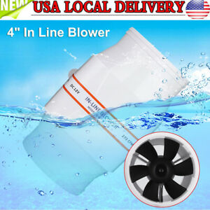 4 In Line Marine Bilge Air Blower Mute Strong Ventilation Fan For Yacht Caravan