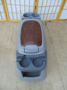99 07 Ford F250 F350 00 05 Excursion Center Drink Holder Storage Console Gray