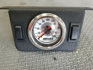 Air Lift Air Ride 2 Switch Dual Needle Gauge Panel 200 Psi 26157