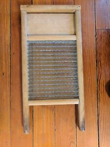 Small Glass Vintage Columbus Washboard Co Washboard