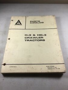 Allis Chalmers H 3 Hd 3 Parts Catalog Manual