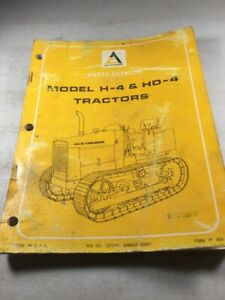 Allis Chalmers H 4 Hd 4 Parts Catalog Manual