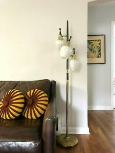 Vintage Mid Century Modern 3 Way Floor Pole Light Lamp Mcm Eames Danish Atomic