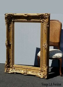 Large 48 Tall Vintage French Rococo Gold Ornate Wall Mantle Picture Frame