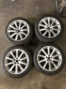 2010 11 12 Jaguar Xj8 Wheels Rims 19 Aleutian Oem Rims With Tires