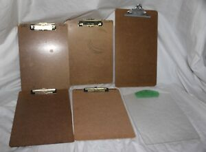 Lot Of 6 Modern Clipboards 3 Eldon 1 Saunders 1 Quill 1 Unmarked Plastic