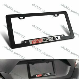 Abs License Plate Tag Frame For Honda Civic Si 1pc With Mugen Car Trunk Emblem