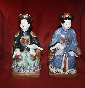Chinese Taoists Emperor Immoral Porcelain Figure