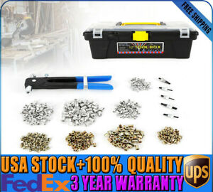 464pcs Threaded Nut Rivet M3 m8 Insert Tool Riveter Rivnut Nutsert Riveting Kit