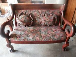 Antique Settee Couch Sofa Loveseat