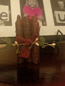 6 Primitive Grungy Dipped Prim Grunge Nubby Candles Spice Coated Scented