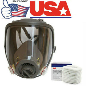 Us Full Face Facepiece Respirator Gas Mask F 3m 6800 Dust Paint Spraying Filter